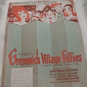 Greenwich Village Follies sheet music - 1922